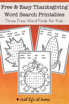 Easy Thanksgiving Word Search Free Printables for Kids (Real Life at Home) Thanksgiving Word Search, Halloween Word Search, Thanksgiving Words, Thanksgiving Activities For Kids, Halloween Words, Thanksgiving Crafts, Turkey Coloring Pages, Fall Words, Fall Arts And Crafts