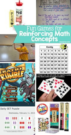 Fun Games for Reinforcing Math Concepts – a round up of games and fun activities that reinforce math concepts and more!