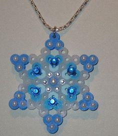 Winter Snowflake Perler Bead by ArtAndSoulGallery