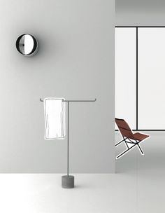 IKO Freestanding Towel Rail, Kensaku Oshiro, Boffi Bathroom Accessory