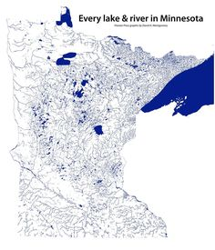 Every lake and river in Minnesota