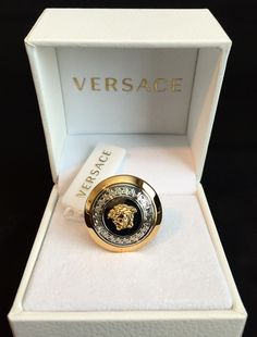 Browse the most sought after Versace clothing including Short Sleeve T-Shirts, Shirts (Button Ups), Sunglasses, & more. Shop our curated selection today! Versace Necklace, Versace Jewelry, Luxury Jewelry, Men's Jewelry, Custom Jewelry, Fine Jewelry, Jewellery, Versace Gold, Tungsten Wedding Bands