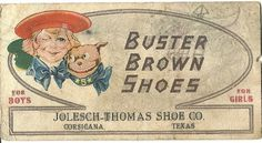 Vintage Buster Brown Shoes Advertising Card by TheIDconnection, $18.00
