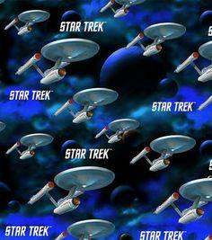 Star Trek Original Series Space Cotton Fabric