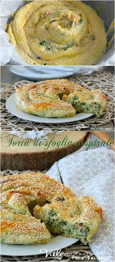 Easy Food Art, Diy Food, Italian Recipes, Vegan Recipes, Cooking Recipes, No Salt Recipes, Sweet Recipes, Quiches, Vegetarian Pie