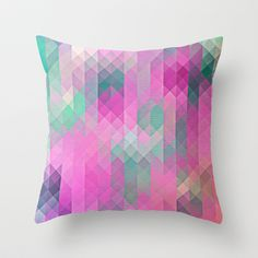 illusions Throw #Pillow by Sylvia Cook Photography - $20.00 #homedecor #abstract #pattern #pink #aqua