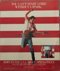 Flying Springsteen Born in the USA Record Store Display Record Display, E Street Band, Columbia Records, Bruce Springsteen, Pop Rocks, Classic Rock, Album Covers, Rock And Roll