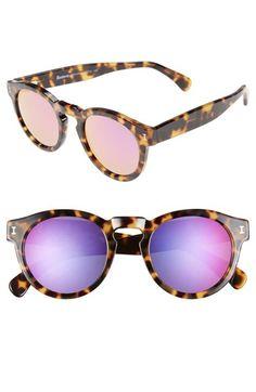 Illesteva 'Leonard' 47mm Mirrored Sunglasses | Nordstrom