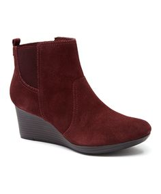 Look at this Clarks Wine Crystal Quartz Suede Boot on #zulily today!