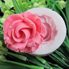 Flores Uno de moho Agujero Flor de silicona Fondant Moldes Azúcar herramientas artesanales de resina Moldes para pasteles - EUR € 2.99