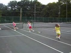 Tennis Drills for Kids - Pyramid Suicide Drill - YouTube