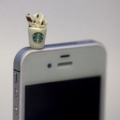 Kawaii STARBUCKS FRAPPUCCINO Iphone Earphone Plug/Dust Plug $7.50    Virtual Office must have!  www.opnpointexecutivecenter.com
