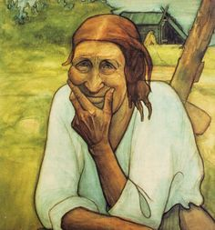 The Old Woman of Hauta-Heikki by Juho Rissanen was one of the first Finnish painters, Nordic Art, Canadian Art, Woman Painting, Old Women, Art World, Van Gogh, Les Oeuvres, Photo Art, Illustration Art