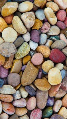 Многие камни, галька красочные iPhone 5 (5S) (5C) обои - 640x1136