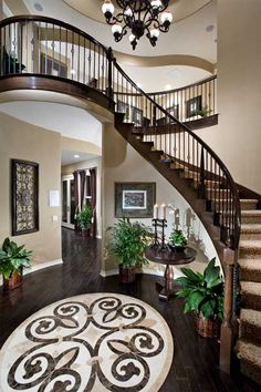 A Stunning Mosaic Adjoins This Graceful Staircase. Residence Four   The Da  Vinci Plan, A New Home Crafted By Crystal Ridge Homes.