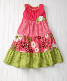 idea for handmade easter dress - love the different patterns