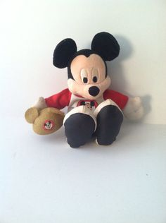 Vintage plush Mickey Mouse on Etsy, $10.00