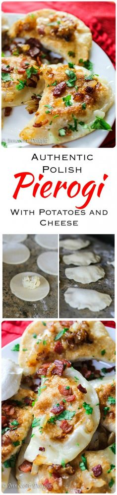 Traditional Authentic Polish Pierogi with Potato and Cheese. Simple trick from famous Polish...