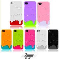 Novedosa y Original funda tipo Helado Derretido para lucir y proteger tu iPhone 4 o 4S.