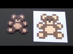 Cute Bear Perler Bead Pattern.  Laceys Crafts is all about sharing super simple and adorable crafts for kids. Enjoy!