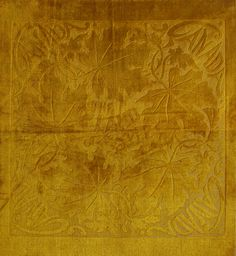 """Cut Velvet from Canada The Land of the Maple, Circa 1930, Size 17"""" x 17"""" , 43 x 43cm"""