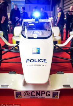 Decked out like a police car, the Caparo T1, which was paraded at the 2013 Le Mans race, can do zero to 60mph in just 2.5 seconds