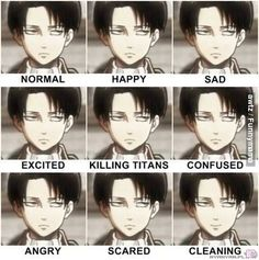 Levi (Shingeki no Kyojin) hahaha