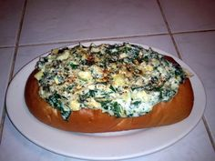 """Spinach-Artichoke Dip (Chicago Style)! """"I was worried that it would be a little bland without any seasoning. I added a pinch of cayenne and white pepper and it is so yummy!""""  @allthecooks #recipe #dip #appetizer #easy #spinach #quick"""