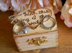 Rustic Ring Bearer Box Personalized Wood Heart by justforkeeps