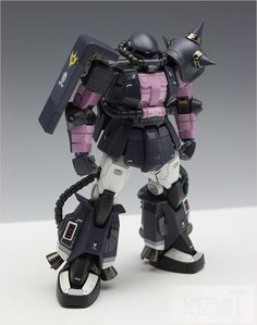 RG 1/144 MS-06R-1A Zaku II Black Tri-Star Ver. Modeled by wire_effect A very nice kit bash (from what I can tell) of the RG Zaku II and th...
