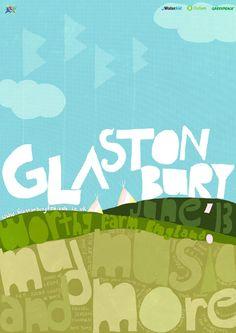 Glastonbury Poster & Invite Card by Revathi Gopalakrishnan, via Behance