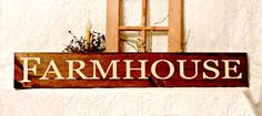 Farmhouse - Primitive Country Painted Wall Sign, Farmhouse sign, Farmhouse Decor, Housewarming gift, New Home Gift, Ready to Ship by thecountrysignshop on Etsy