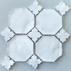 ♕ ceramic  This would make the prettiest back-splash..