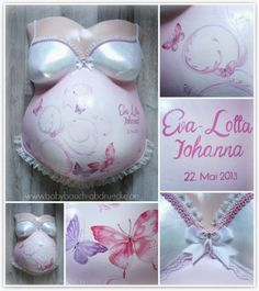 Belly cast of a mom to be - fariytale, butterfly baby dream. By Julia Schulze, Germany
