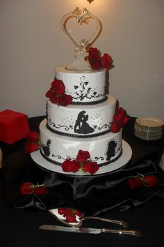 Beauty and the Beast - Cristman Wedding Cake, March 3, 2012