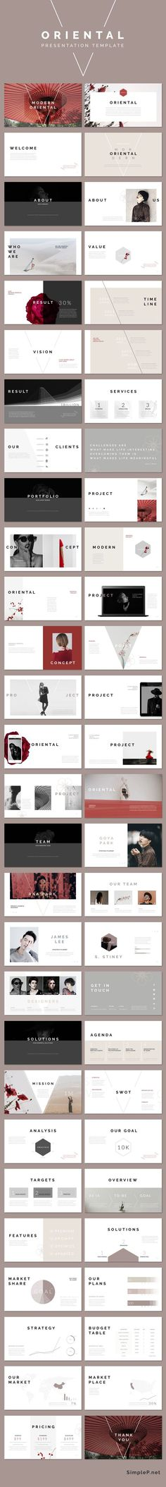 Modern Stylish Keynote Presentation Template #ppttemplate #oriental #portfolio #business #marketing #proposal