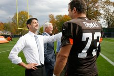 Paul Ryan visits Cleveland Browns practice, but can't tell his quarterbacks apart #election #football