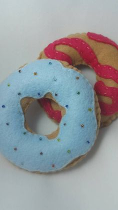 Check out this item in my Etsy shop https://www.etsy.com/listing/240281080/donut-felt-set-play-food-pretend