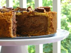 Chocolate Peanut Butter Bliss Cheesecake!
