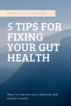 your gut health affects your mental health so it's important to take care of your stomach! Holistic Wellness, Wellness Tips, Health And Wellness, Mental Health, Take Care Of Yourself, Improve Yourself, Health Diet, Health Fitness, Anxiety Tips