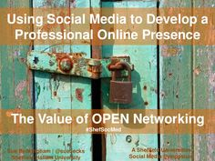 Using Social Media to Develop a Professional Online Presence as a Researcher
