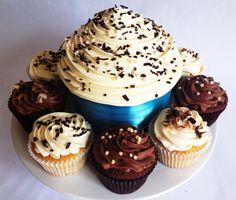 Chocolate & Vanilla Giant Cupcakes