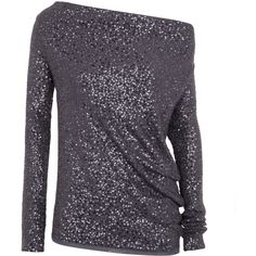 Donna Karan Sequinned Silk And Cashmere Jumper ($2,285) ❤ liked on Polyvore