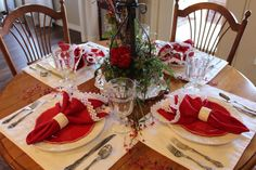 Tablescape Thursday: A Valentine's Table - Belle Bleu Interiors