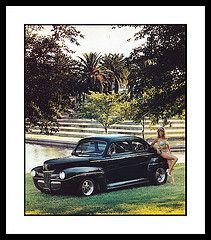 """'41 Ford Show Car, 1985 (Cosmo's """"ART"""" Gallery) Tags: ford babe 1985 1941 customcar showcar vision:text=0647 vision:outdoor=0853"""