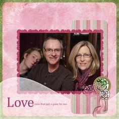 """Love Is More"" Digital Scrapbooking Layout by Janine Buckles"