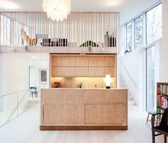 A Finnish home with custom birch cabinets