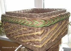 Мастер-класс Поделка изделие Плетение Еще один вариант бортика под крышку Салфетки Трубочки бумажные фото 3