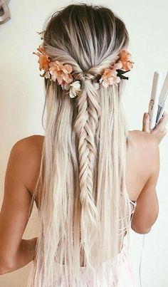 beautiful blond long hair.