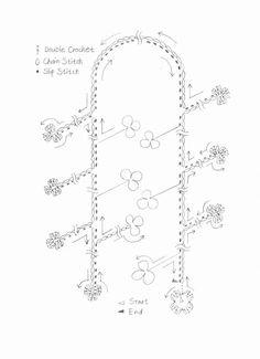 Crochet patrones ganchillo gorros 66 ideas for 2019 Crochet Chain Stitch, Bracelet Crochet, Crochet Necklace Pattern, Crochet Motif Patterns, Crochet Chart, Crochet Stitches, Japanese Crochet Patterns, Tutorial Colar, Necklace Tutorial